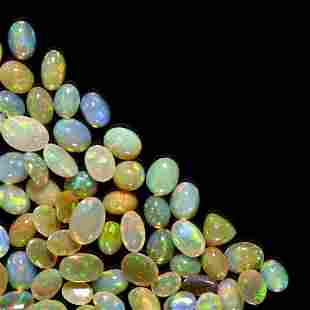 Group of Crystal Opals