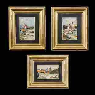 Three Pietra Dura Plaques