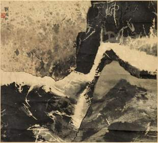 Liu Guosong (Liu Kuo-Sung, born 1932) Canyon Scene,