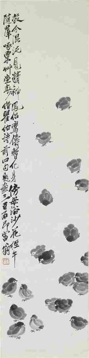 Qi Baishi (1864-1957) Chicks