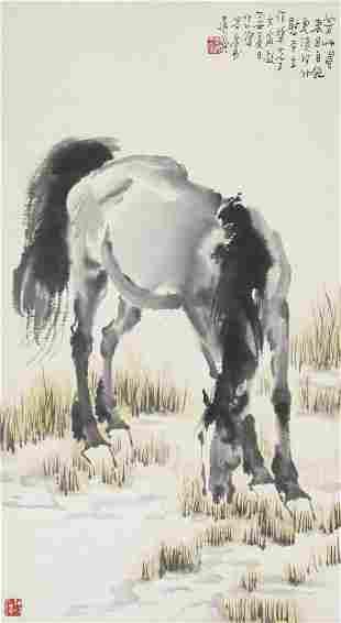 Xu Beihong (1895-1953) Grazing Horse, 1937