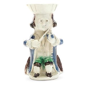 A very rare 'Fiddler' Toby Jug from the 'Midshipman