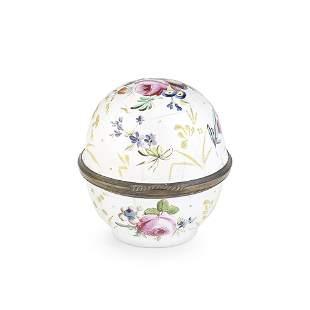 A very rare South Staffordshire enamel soap box, circa