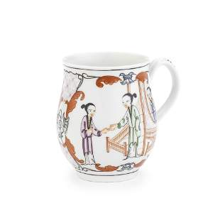 A Worcester mug, circa 1765