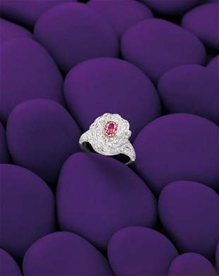 AN IMPORTANT COLOURED DIAMOND AND DIAMOND 'FLOWER'