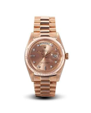 Rolex | Day-Date, Ref.1803, A Rare Pink Gold and