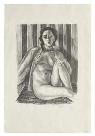 Henri Matisse (1869-1954) Nu assis à la chemise de