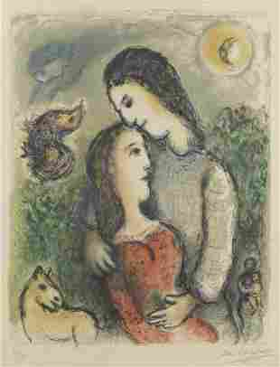 Marc Chagall (1887-1985) Les Adolescents Lithograph in