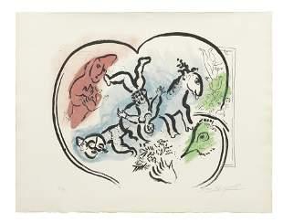 Marc Chagall (1887-1985) Le Coeur du cirque Lithograph