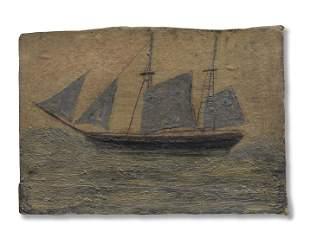 Alfred Wallis (British, 1855-1942) Sail Boat 14.8 x 21
