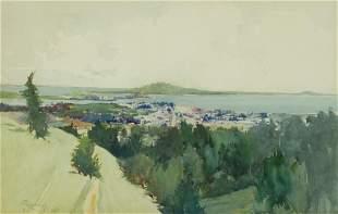 Francis John McComas (1875-1938) City by the Sea 10 1/2