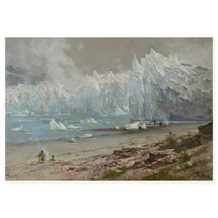 Thomas Hill (1829-1908) The Muir Glacier (Alaska) 16 x
