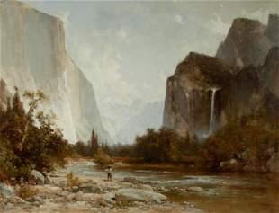 Thomas Hill (1829-1908) Fisherman along the Merced
