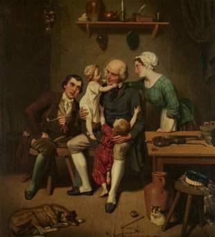 Charles Christian Nahl (1818-1878) Visit to Grandpa 30