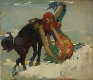 Arthur Frank Mathews (1860-1945) Sea Centaur and