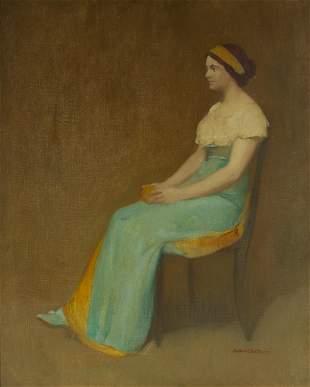 Arthur Frank Mathews (1860-1945) Study of a Lady in
