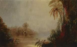 Norton Bush (1834-1894) Tropical Scene 10 x 16in framed