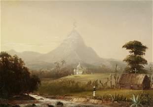 Norton Bush (1834-1894) Mountain Landscape with Church