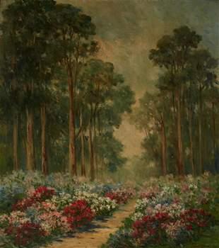 Bertha Stringer Lee (1869-1937) Rhododendrons, Golden