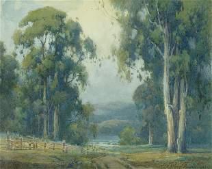 Percy Gray (1869-1952) Eucalyptus Trees with Distant