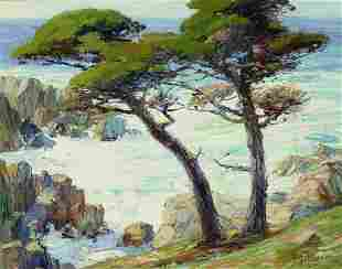 Anna Althea Hills (1882-1930) Troubled Waters, Monterey