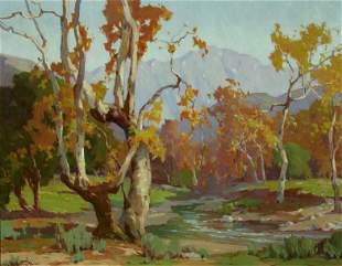 Marion Kavanagh Wachtel (1876-1954) Sycamores 27 3/4 x