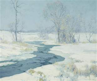 Maurice Braun (1877-1941) Early Winter 20 x 24in framed