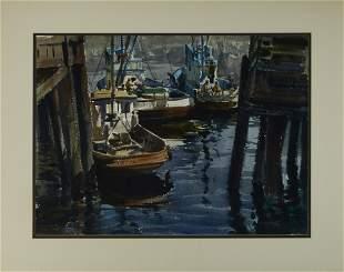 Emil Jean Kosa, Jr. (1903-1968) Outbound (Boats in Los