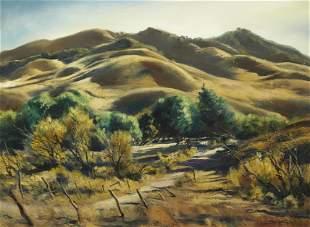 Emil Jean Kosa, Jr. (1903-1968) California Hills 28 x