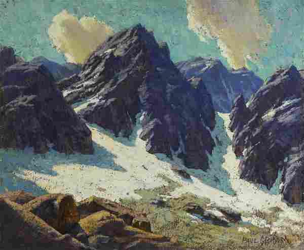Paul Grimm (1891-1974) Glacier Palisades 20 x 24in