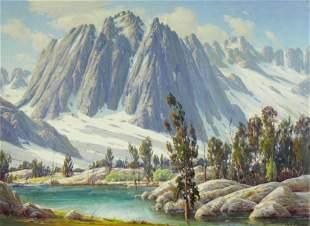 Paul Grimm (1891-1974) Sierra Majesty 30 x 40in framed