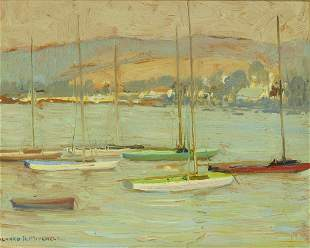 Alfred R. Mitchell (1888-1972) In the Harbor (Point
