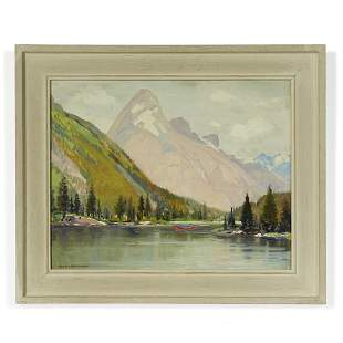 Alfred R. Mitchell (1888-1972) In the Canadian Rockies