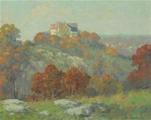 Maurice Braun (1877-1941) House on the Hill 16 x 20in