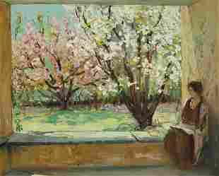 Alfred R. Mitchell (1888-1972) The Garden Porch