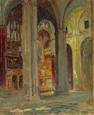 Colin Campbell Cooper (1856-1937) Church Interior