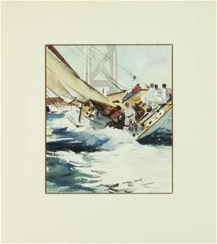 Maurice Logan (1886-1977) Sailing on San Francisco Bay