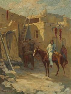 Louis Hovey Sharp (1874-1946) The Navajo Traders 26 x