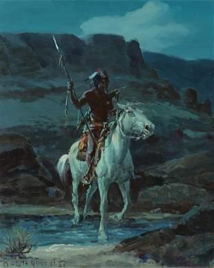 Olaf Carl Wieghorst (1899-1988) Indian Scout 12 x 10in