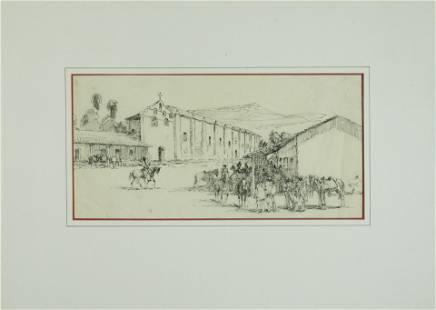 Edward Borein (1872-1945) Mission San Gabriel sight 7