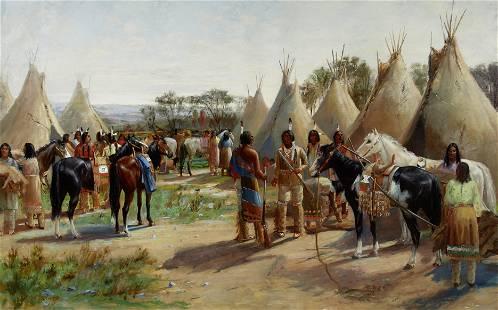 John Howard Martin (1853-1919) Return from the Hunt 33