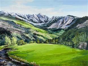 Mark King (1931-2014) Cabin in a Mountain Landscape 36