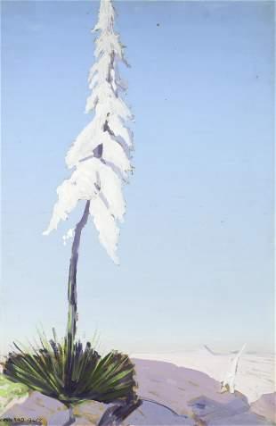 Conrad Buff (1886-1975) Candle of God Plant 24 1/4 x