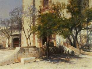 Richard Murray (born 1948) Church at San Miguel 24 x