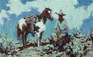 Burt Procter (1901-1980) The Night Watch 20 x 32in