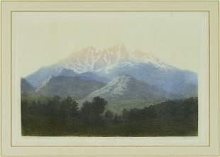 George Elbert Burr (1859-1939) Longs Peak, Estes Park,