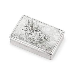 A Victorian silver snuff box