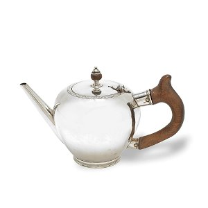 A George II Irish provincial silver bullet teapot