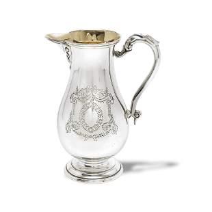 A modern Irish silver beer jug