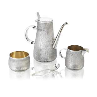 GERALD BENNEY: A silver three-piece coffee service